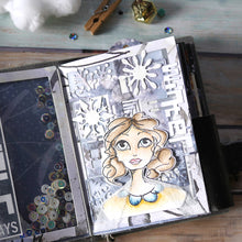 Load image into Gallery viewer, Elizabeth Craft Designs Art Journal Specials - Cubic Background Die (1822)