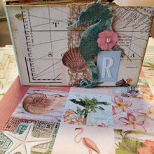 Load image into Gallery viewer, Vintage Coastal Mini Album - A Virtual Class + Kit