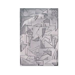 Pre-Order Sizzix 3-D Textured Impressions Embossing Folder- Doodle Triangles (664528)