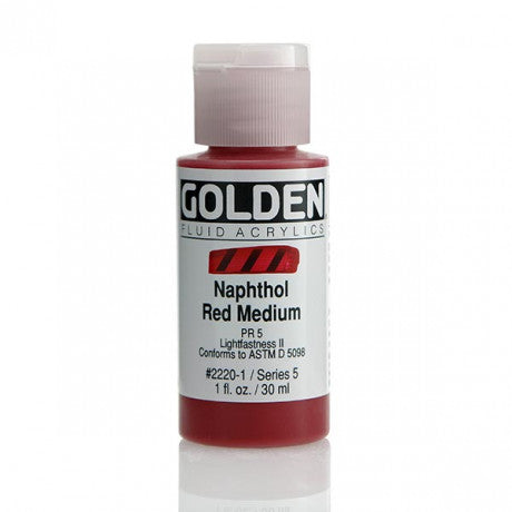 Golden Fluid Acrylics- Naphthol Red Medium (2220-1)