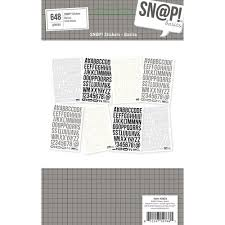 Simple Stories - Sn@p! Stickers - Basics - Black Letters