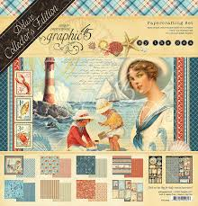 Graphic 45 Deluxe Collector's Edition Papercrafting Set - By The Sea (4501832)
