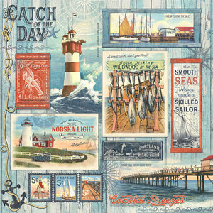 Graphic 45 Catch of the Day 12x12 Paper - Catch of the Day (4502167)