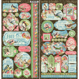 Graphic 45 Bird Watcher Collection Chipboard (4502214)