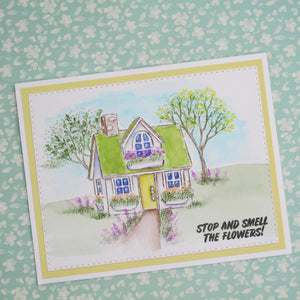 Art Impressions Unmounted Stamp - WC Large Cabin Set (5259)