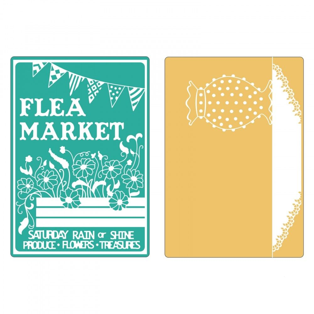 Sizzix- Textured Impressions- Flea Market and Hobnail Vase (658471) - RETIRED