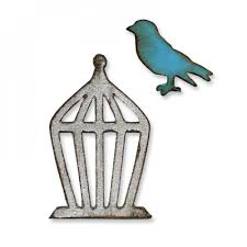 Sizzix Tim Holtz Alterations- Movers and Shapers Die- Mini Bird & Cage - 657207