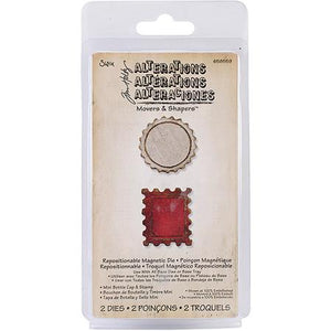 Sizzix Tim Holtz Alterations Mini Bottle Cap & Stamp Die 658559 - RETIRED