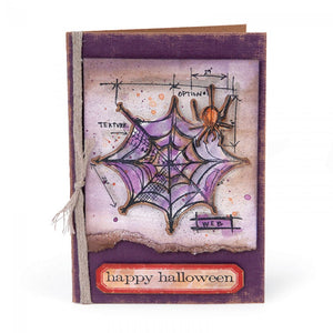 Tim Holtz Stamp and Dies Cobweb Blueprint