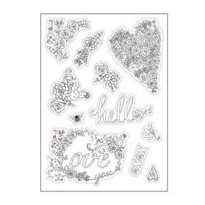 Sizzix Coloring Stickers - In Bloom (661874)