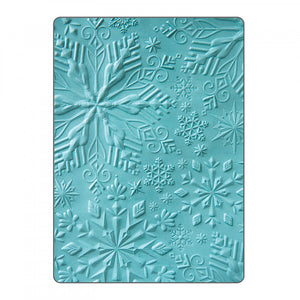 Sizzix Textured Impressions Embossing Folder- Winter Snowflakes (662287)