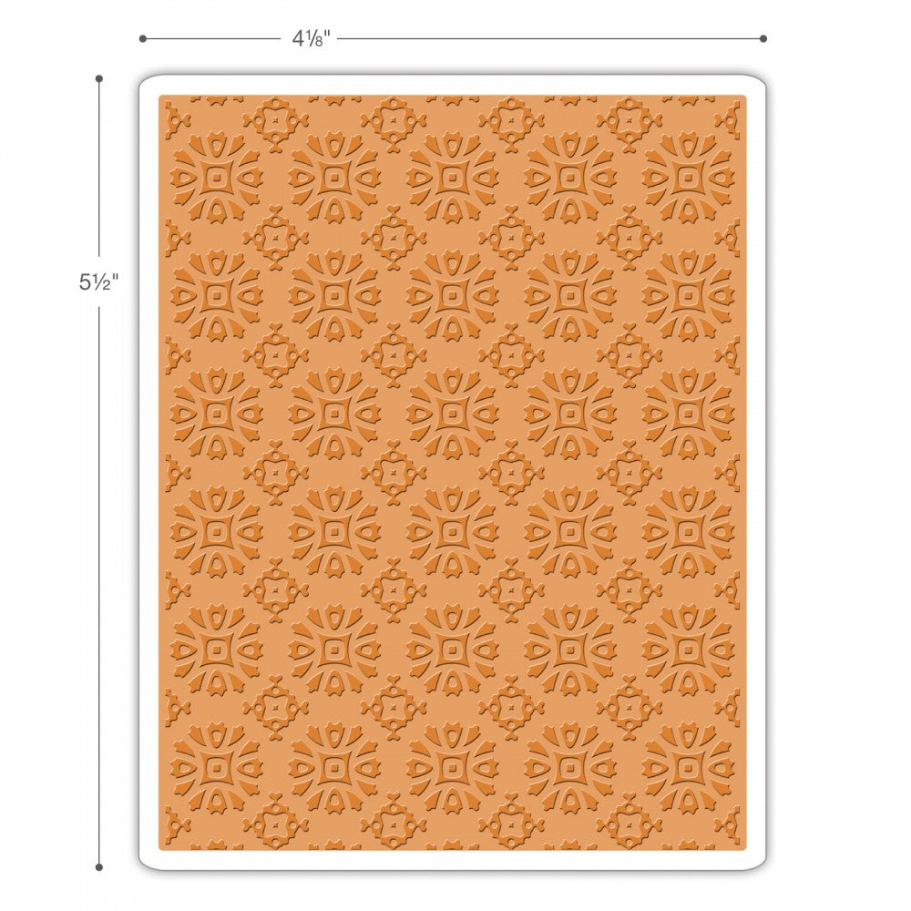 Sizzix Texture Fades Embossing Folder - Rosettes Item #662391 - RETIRED
