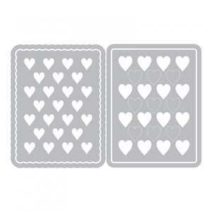 Sizzix Eileen Hull- Thinlits- Journaling Cards, Hearts (662812)
