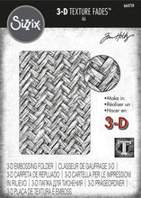 Load image into Gallery viewer, Sizzix 3-D Texture Fades Embossing Folder - Intertwine by Tim Holtz (664759)