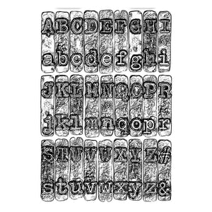 Sizzix 3-D Texture Fades Embossing Folder - Typewriter by Tim Holtz (664760)