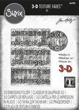 Load image into Gallery viewer, Sizzix 3-D Texture Fades Embossing Folder - Typewriter by Tim Holtz (664760)