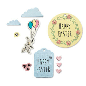 Sizzix Framelits Die Set 9PK w/Stamps - Easter Fun (665065)