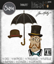 Load image into Gallery viewer, Sizzix Thinlits Die Set 14PK - The Gent by Tim Holtz (665202)