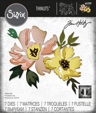 Load image into Gallery viewer, Sizzix Thinlits Die Set 7PK - Brushstroke Flowers #1 by Tim Holtz (665209)