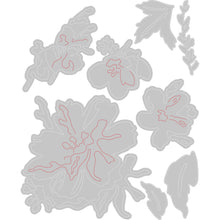 Load image into Gallery viewer, Sizzix Thinlits Die Set 8PK - Brushstroke Flowers #2 by Tim Holtz (665210)