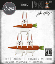 Load image into Gallery viewer, Sizzix Thinlits Die Set 11PK - Carrot Bunny by Tim Holtz (665213)