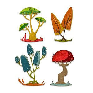 Sizzix Thinlits Die Set 5PK - Funky Toadstools by Tim Holtz (665216)