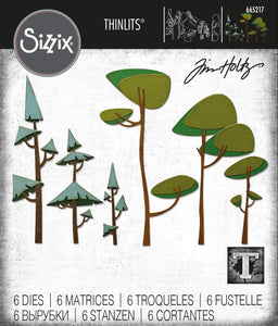 Sizzix Thinlits Die Set 6PK - Funky Trees by Tim Holtz (665217)