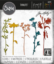 Load image into Gallery viewer, Sizzix Thinlits Die Set 5PK - Wildflower Stems #3 by Tim Holtz (665221)