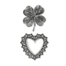 Load image into Gallery viewer, Sizzix 3-D Impresslits Embossing Folder - Lucky Love by Tim Holtz (665227)