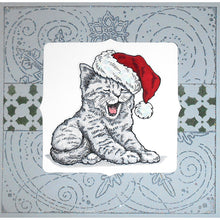 "Load image into Gallery viewer, Stampendous! Fran's 6"" x 6"" Cling Rubber Stamp - Winter Blizzard (6CR009)"