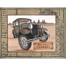 "Load image into Gallery viewer, Stampendous Fran's 6"" x 6"" Cling Rubber Stamp - Posted Script (6CR021)"