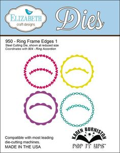 Elizabeth Craft Designs Dies - Ring Frame Edges 1 (950)