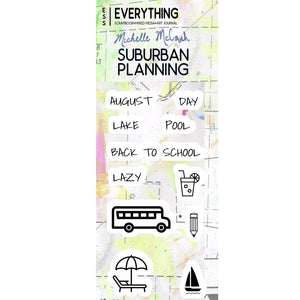 Suburban Planning Planner Stamp Set by Michelle McCosh - August