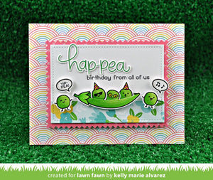 Lawnfawn Photopolymer Clear Stamps - Be Hap-pea (LF1890)