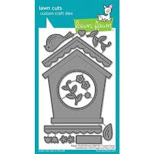 Lawn Cuts Custom Craft Dies - Magic Iris Birdhouse Add-On (LF2471)