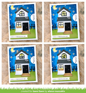 LawnFawn Lawn Cuts Dies- Reveal Wheel Templates: Build-A-House (LF2041)