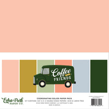 Load image into Gallery viewer, Echo Park Paper Co. 12x12 Coordinating Solids Paper Pack - Coffee And Friends (CF230015)
