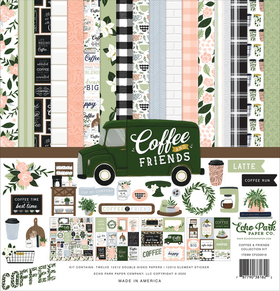 Echo Park Paper Co. Collection Kit - Coffee and Friends (CF230016)