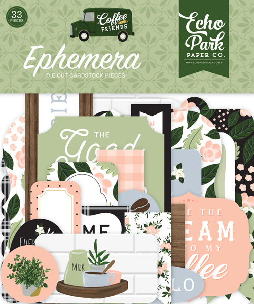 Echo Park Paper Co. Ephemera Die Cut Cardstock - Coffee and Friends Collections (CF230024)