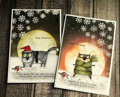 Stampers Anonymous Tim Holtz Collection - Snarky Cat Christmas (CMS416)