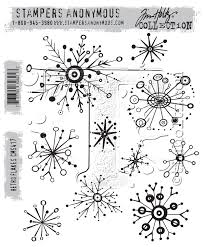 Stampers Anonymous Tim Holtz Collection - Retro Flakes (CMS417)