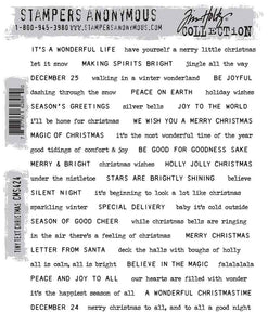 Stampers Anonymous Tim Holtz Collection - Tiny Text Christmas (CMS424)