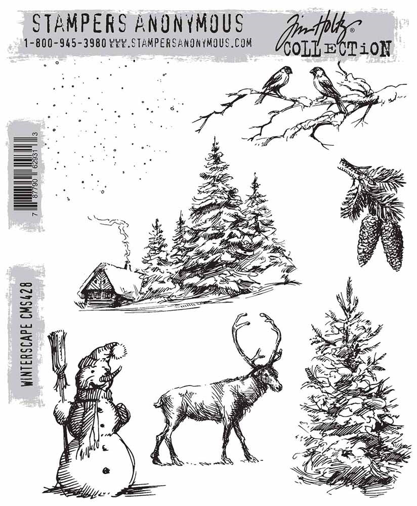 Stampers Anonymous Tim Holtz Collection - Winterscape (CMS428)