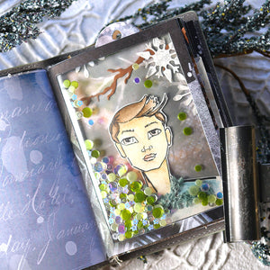 Elizabeth Craft Designs Art Journal Specials - Lady & Gentleman Clear Stamp Set (CS206)