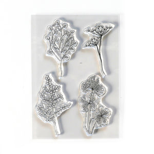Elizabeth Craft Designs Art Journal Specials - Flowy Florals Clear Stamp Set (CS209)