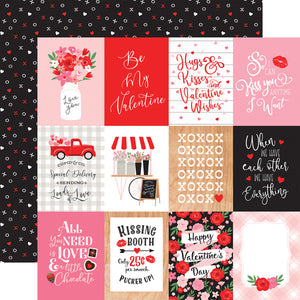 Echo Park Paper Co. 12x12 Scrapbook Paper - Cupid & Co. Collection - 3x4 Journaling Cards (CUP227003)