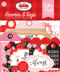 Echo Park Paper Co. Frames & Tags Die Cut Ephemera Cardstock Pieces - Cupid & Co. Collection (CUP227025)