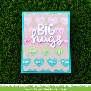 Lawn Fawn Lawn Clippings Stencil - Conversation Hearts (LF2478)