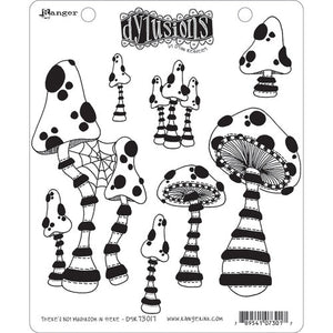 Dylusions by Dyan Reaveley - Cling Stamp - There's Not a Mushroom in Here! DYR73017