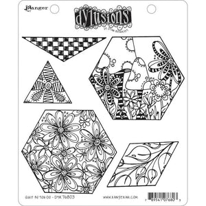 Ranger Dylusions by Dyan Reaveley Unmounted Rubber Stamp Set - Quilt As You Go (DYR76803)